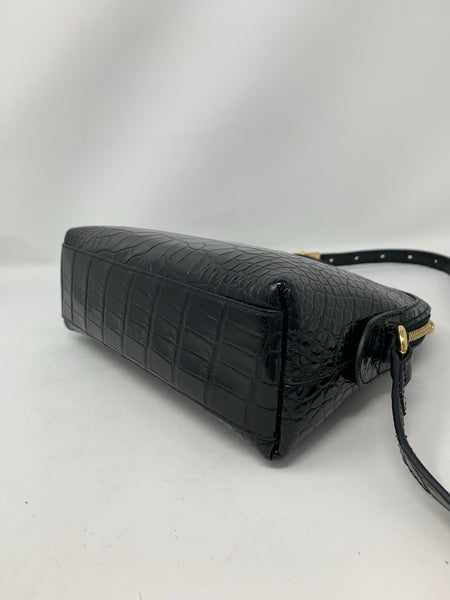 Gucci Ophidia Crocodile Crossbody Black