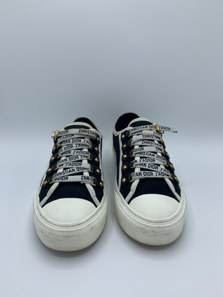 Dior Walk'n'Dior Black Canvas Sneaker size 37.5EU