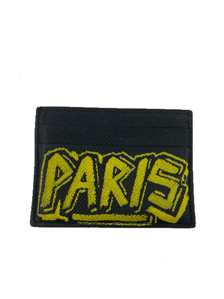 Balenciaga Graffiti Card Holder Yellow/Black