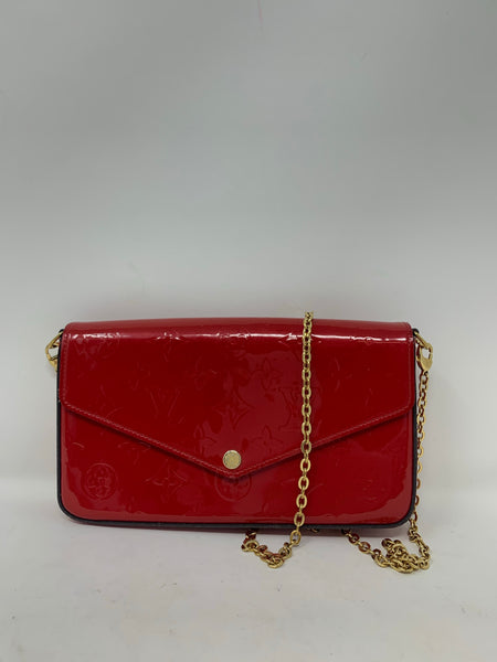 Louis Vuitton Pochette Felicie Cherry Vernice Leather