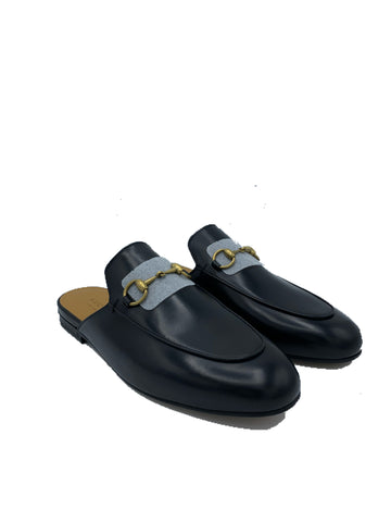 Gucci Black Leather Princetown Slipper size 37EU