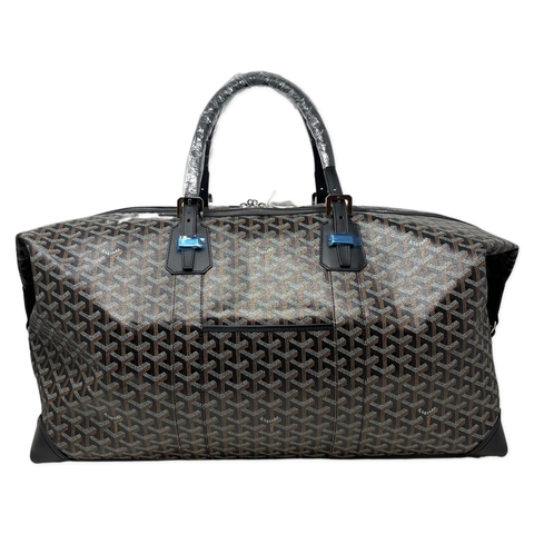 Goyard Boeing 55 Black Duffle Bag with crossbody strap