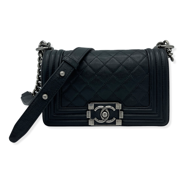 Chanel Quilted Calfskin Leather Small Boy Bag Black