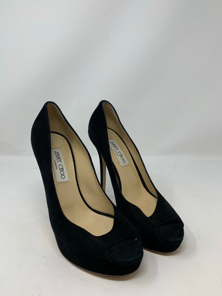 Jimmy Choo Black Luna Suede Pumps Size 38