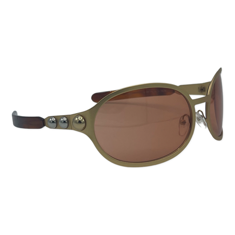 Chloe Oversized Oval sunglasses with tortoise accents