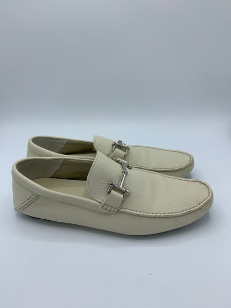 Bally Woven-strap Loafers calf-grained In Pearl men size 9US
