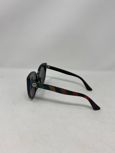 Gucci Rainbow Sparkly Stripe Cat eye sunglasses
