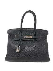 Hermes Birkin 30 Black Clemence Leather