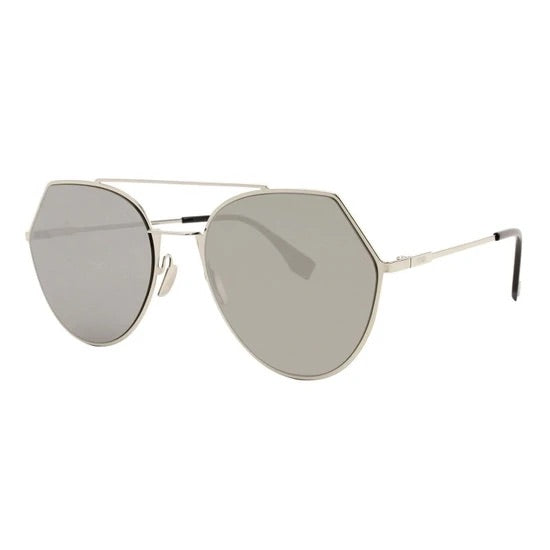 Fendi aviator sunglasses light gold reflective lenses 3YG0T