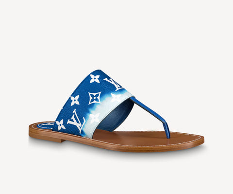 Louis Vuitton Escale Palma Flat Thong Blue Size 40EU