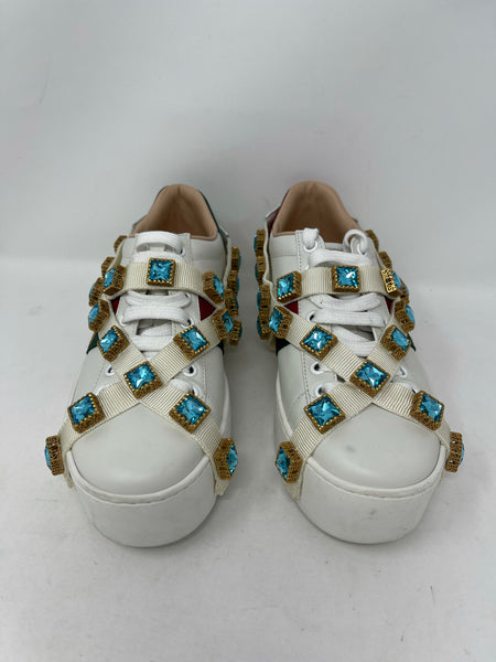 Gucci Ace Sneakers with removable crystals size G35