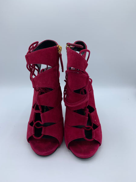 Giuseppe Zanotti Red Lace up Pumps size 38