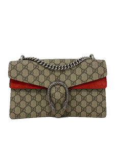 Gucci Monogram GG Small Dionysus Shoulder Bag Red
