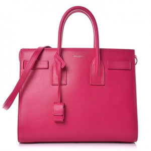 Saint Laurent Calfskin Small Sac De Jour Bubblegum pink