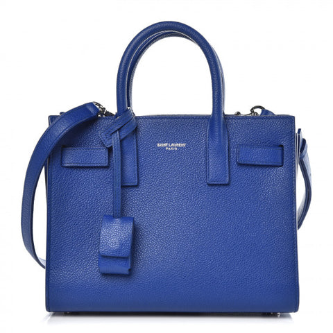 Saint Laurent Blue Grained leather Nano Sac De Jour