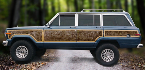 Jeep Grand Wagoneer wood panel replacement kit vinyl oak tree bark decal graphic