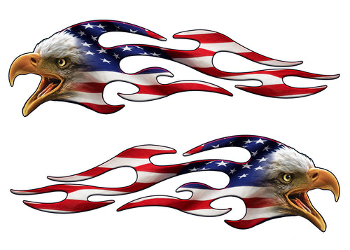 American Eagle Flag flames