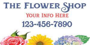 Flower Shop Personalized Vehicle Magnetics Set of 2