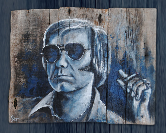 George Jones, country legend, art print on canvas, unframed