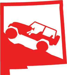 Jeep Wrangler New Mexico State Outline Decal