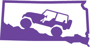 Jeep Wrangler South Dakota State Outline Decal