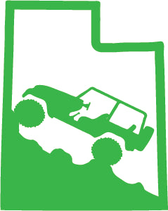 Jeep Wrangler Utah State Outline Decal