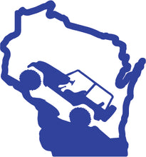 Load image into Gallery viewer, Jeep Wrangler Wisconsin State Outline Decal