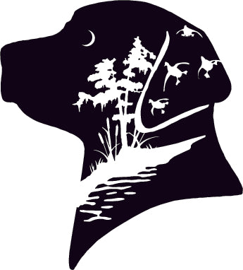 Lab head silhouette duck hunting decal