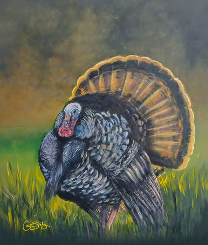 Hand Painted Turkey art print on canvas, unframed