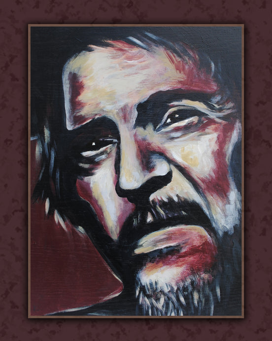 Waylon Jennings hand painted art canvas print