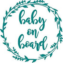 Load image into Gallery viewer, Baby on Board cut vinyl decal
