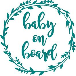 Baby on Board cut vinyl decal