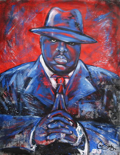 Notorious BIG art print on canvas, unframed