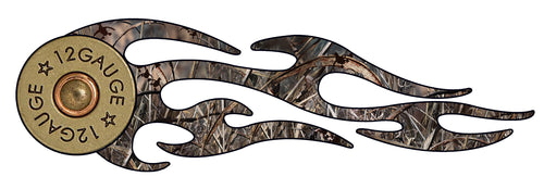 12 Gauge duck camo tribal flames