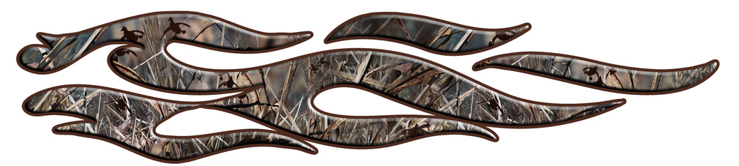 Camo duck tribal flames