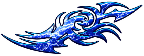 Blue lightning tribal flames