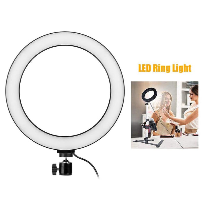 10 inches Photo Studio lighting LED Ring Light  3500 6000K Dimmable Photography Ring Lamp for Video Phone Camera Photo Makeup