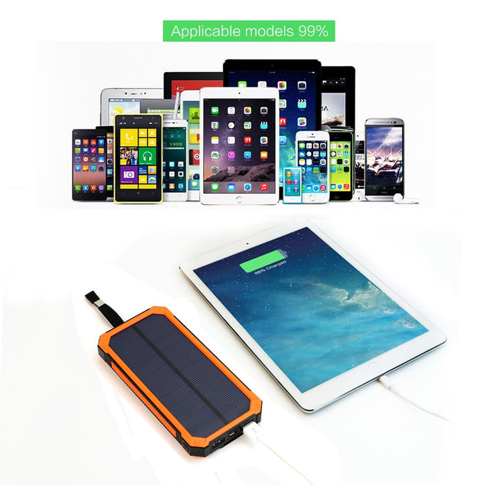 Solar Power Bank Outdoor External Battery Charger for iPhone Samsung LootDash