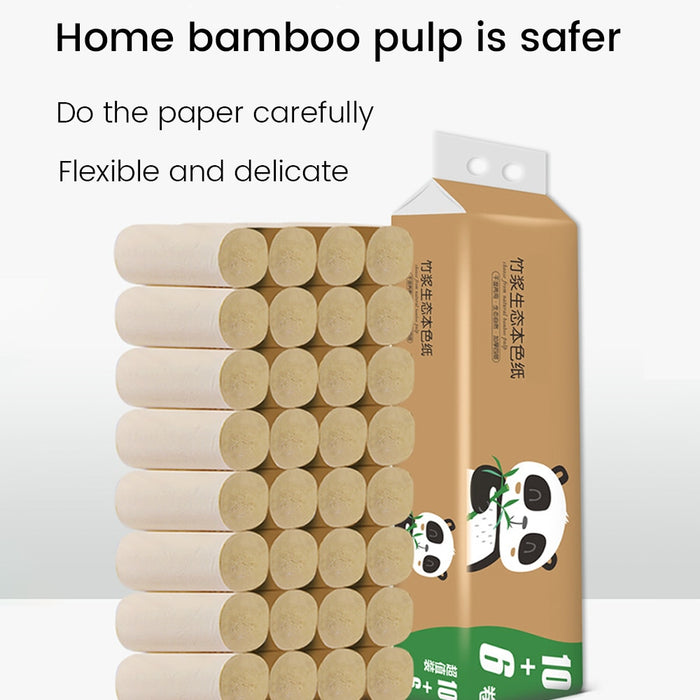 16 Rolls PaperTowels Bamboo Strong With Great Water Absorption