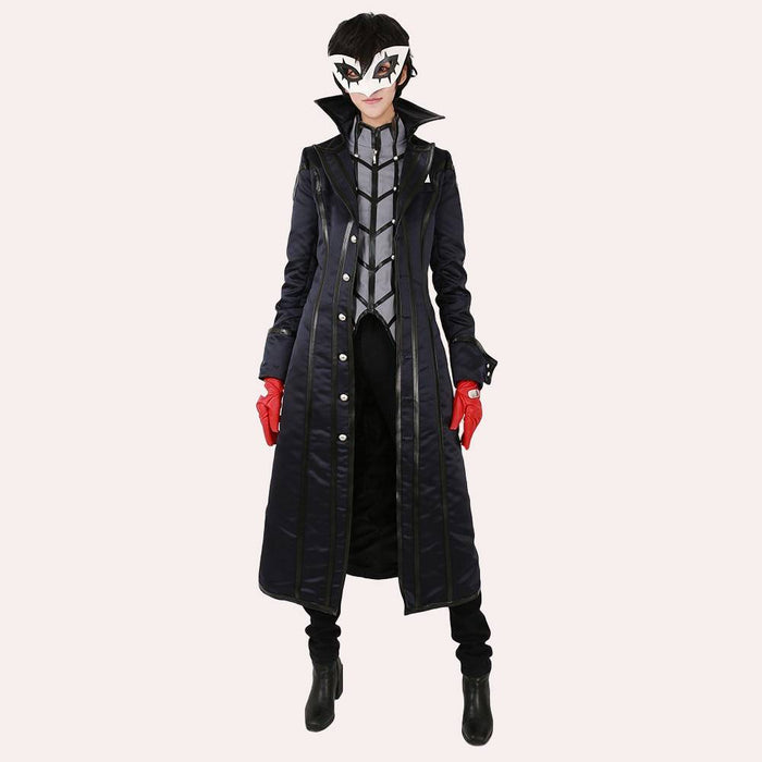 Persona 5 Joker Cosplay  Uniform Outfit Phantom Thief Dark Blue Men