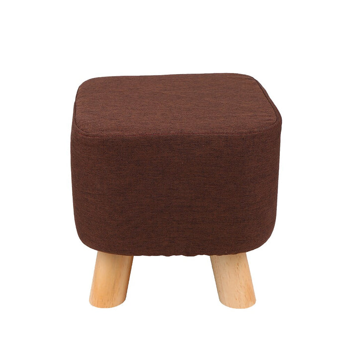 28x28cm Square Taboret Stool Wooden Bedroom Dining
