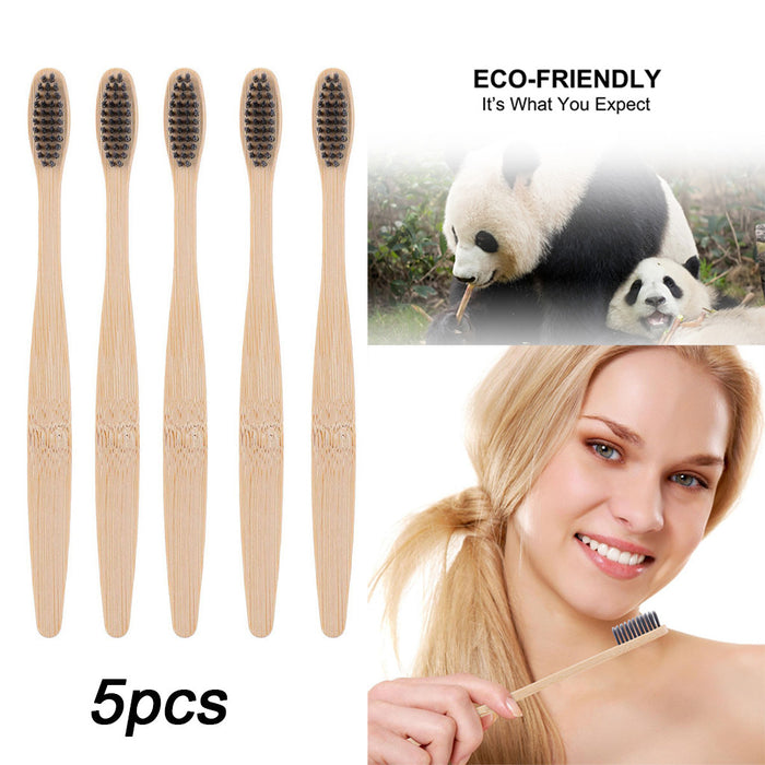 4/5/10PCS Environmental Bamboo Charcoal Health Toothbrush For Oral Care Teeth Cleaning Eco Medium Soft Bristle Brushes