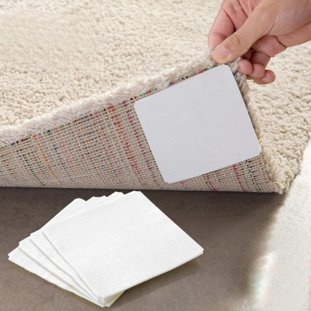 4 X Carpet Pad Double-sided adhesive Sticker Anti