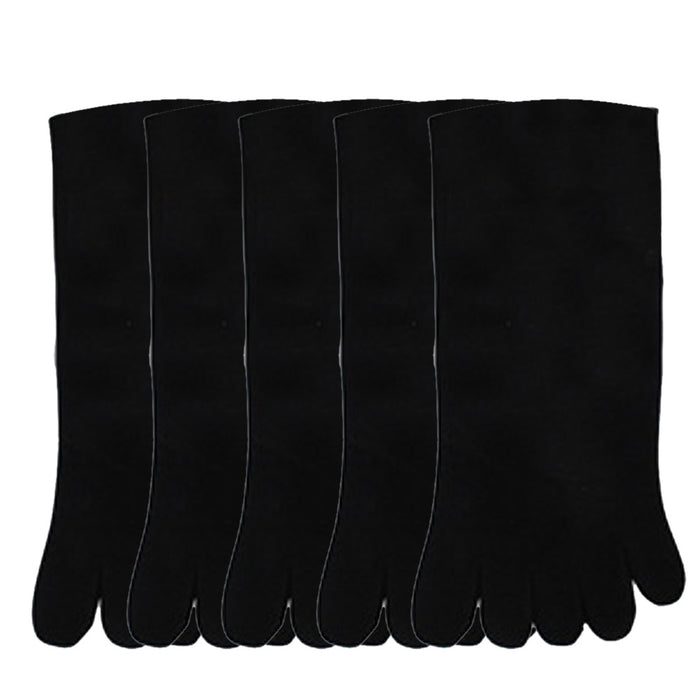 5 Pairs Men Sports Socks Running Five Finger Toe Socks Elastic Short Soild Running Five Finger Toe Socks Elastic Short Socks