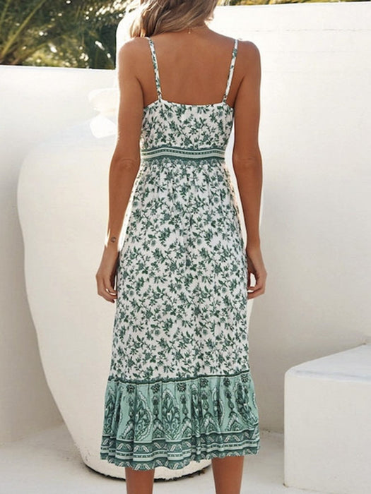 Sleeveless Floral Summer Dress