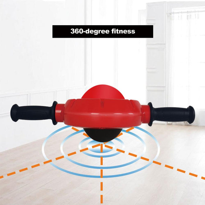 abdominal exerciser drum muscle exerciser with non slip rubber handle for 360 degree core