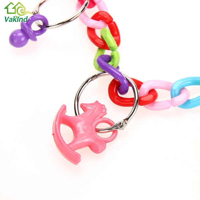 Acrylic Small Birds Toys Pet Toy Chew Swing Climb