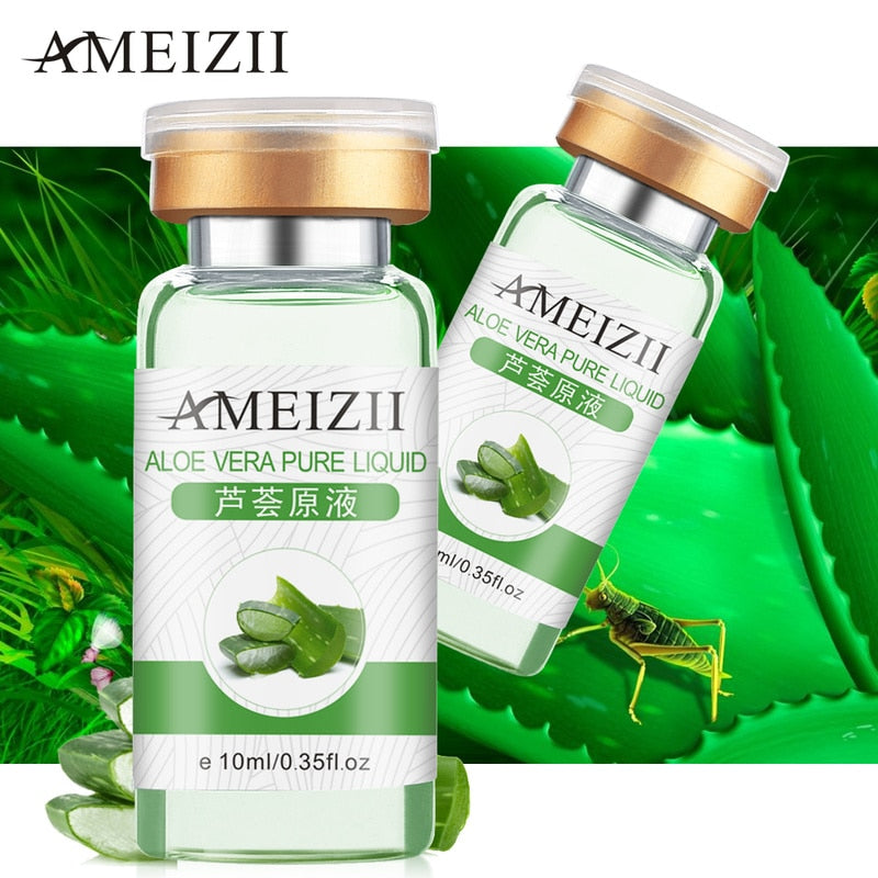Aloe Natural Face Collagen Serum Anti Wrinkle Aging in Facial Suncream Hyaluronic Acid rich in Vitamin Skin Care Essence TSLM1|Serum LootDash