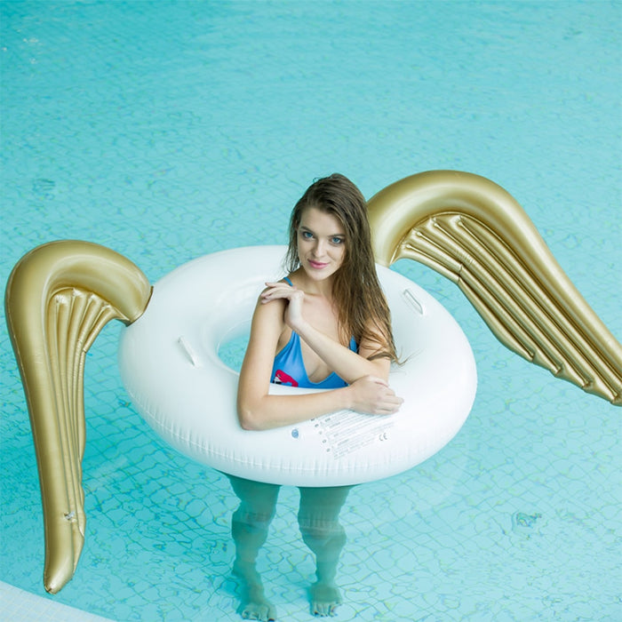 Angel wings swimming circle swimming pool floating adult inflatable LootDash
