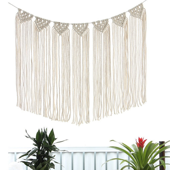Bohemian Style Tapestry Household Hand woven Wall Tapestry Interior Decoration White on LootDash